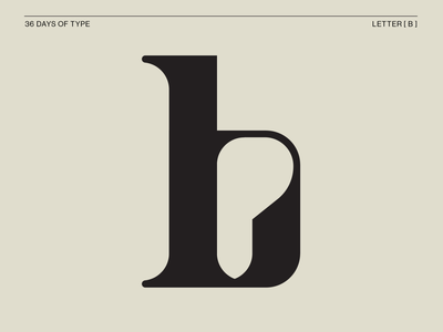36days _ B monogram serif typewriter vintage tan daily letterb letterforms 36daysoftype08 36 days of type 36 days typography