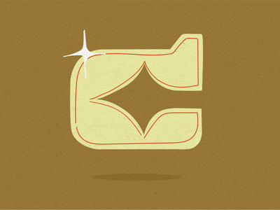 36 Days of Type _ C type grain cowboy lettering 36daysoftype08 36 days of type 36daysoftype vector monogram hand drawn type typography