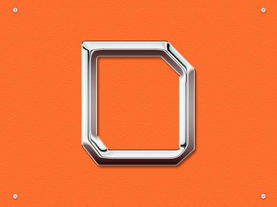 36days _ D hardware orange daily 36days 36daysoftype metallic metal chrometype chrome typography
