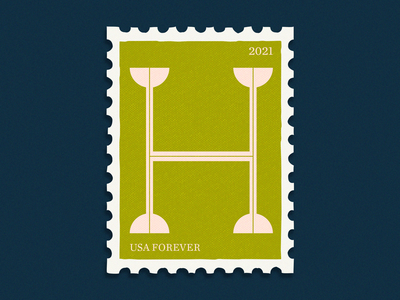 36days _ H postcard stamp vintage 36daysoftype08 36daysoftype 36days monogram letter h letter design letterdesign letter stamps postage stamp typography design