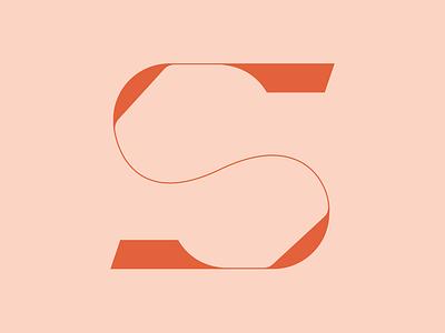 36 Days of Type _ S logo sleek orange sophisticated simple 36daysoftype 36daysoftype08 monogram design type typography letterform lettering