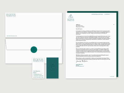 Equus Foundation stationery letterhead logo branding stationary stationery