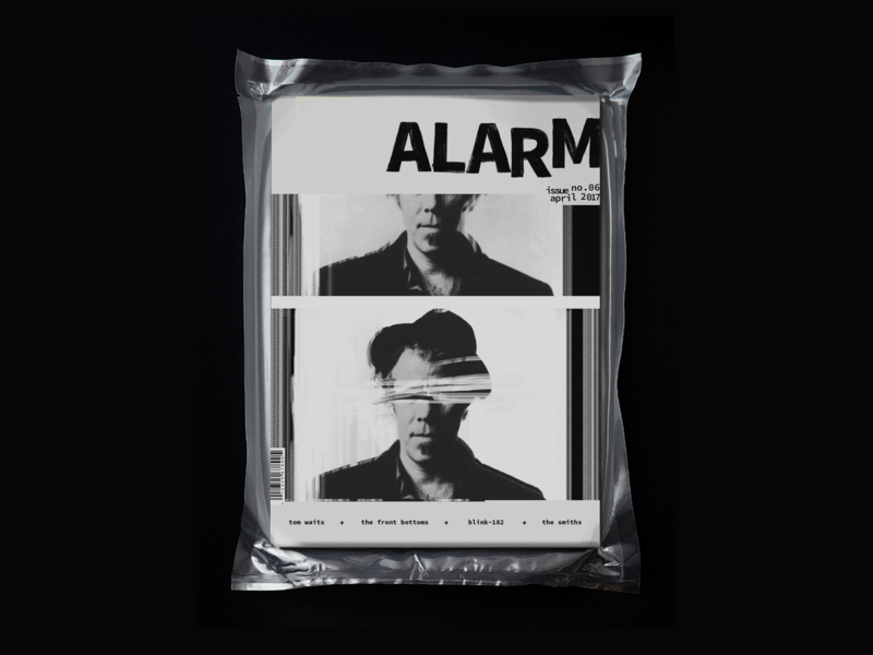 Alarm Magazine typography digital art alarm music editorial