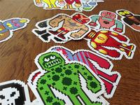 Luchadores Stickers
