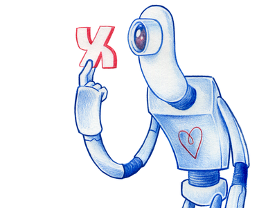 Alef illustration character design pencil