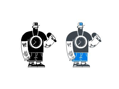 Learning Sketch App raper hip hop charater design illustration pixelart vector pixel sketchapp