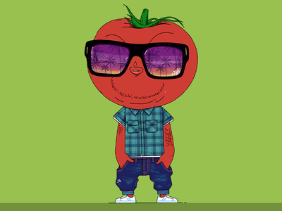 Tomato applepencil ipadpro procreate character design illustration