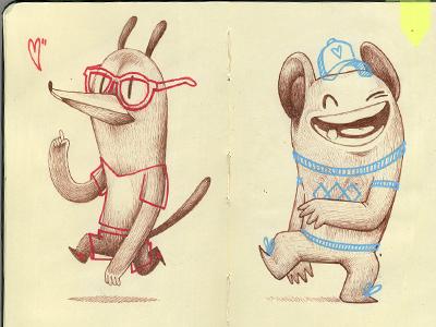 Sketches illustration character sketch copic posca moleskine