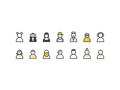 Tiny characters characters powerbi microsoft ms sketchapp vector avatars illustration
