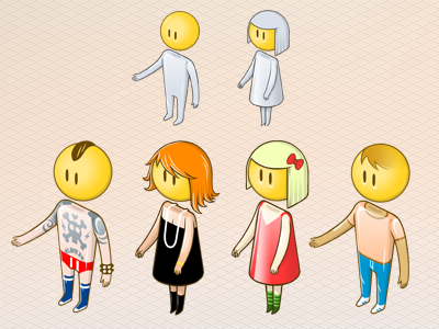 isometric avatars concept illustration character smiley