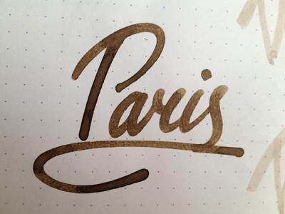 Paris lettering calligraphy custom script handwritten