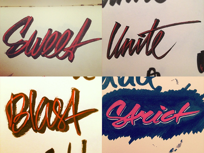 Lettering sketches calligraphy lettering typography type brush markers
