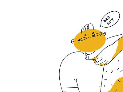 Bad guy procreate design person illustraion character character design