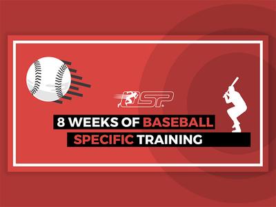 Baseball Ad minimal circle red simple advertizing ad facebook training specific bat ball baseball