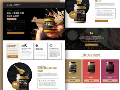 Bone Broth Landing Page freestyle graphic design webdesign web ui main page landing page landing homepage design creativity bone marrow beef broth