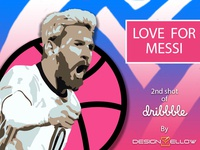 My 2nd Shot , only for Messi and Dribbble lover