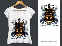 Woman T Shirt Halloween T-Shirt Design, Halloween, T-Shirt