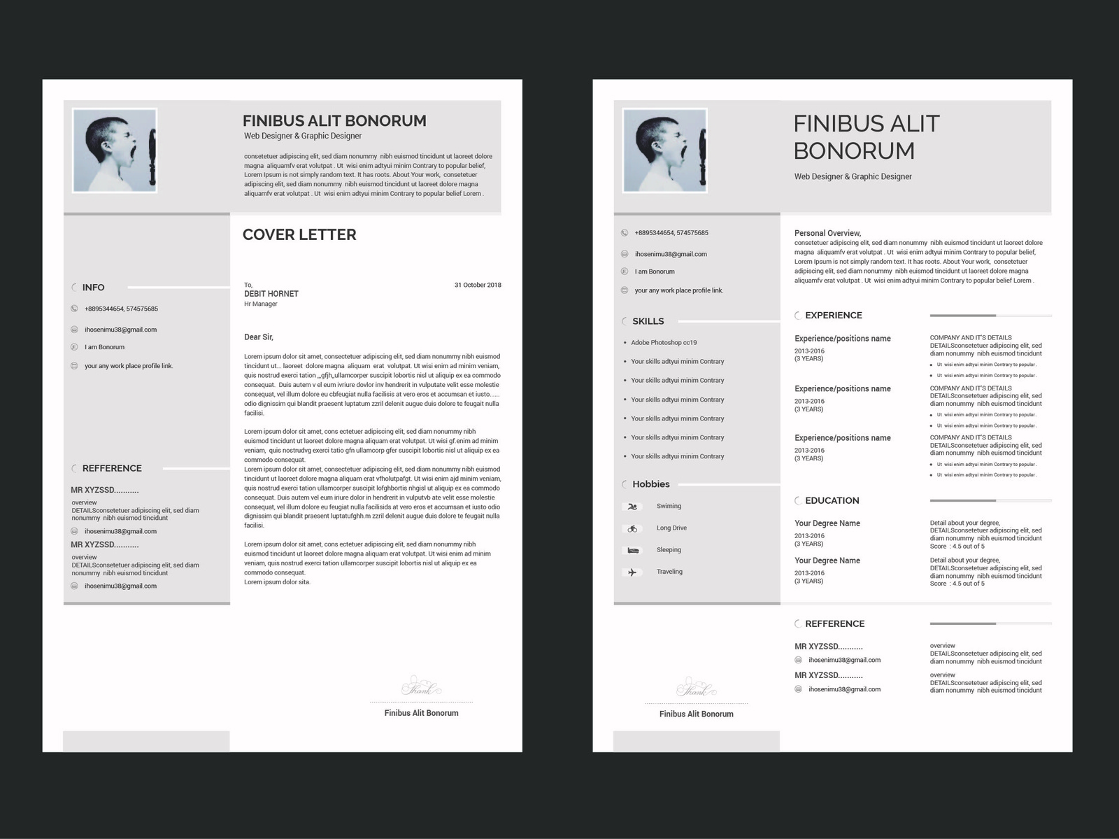 free resume cover letter design template 2018 by imran hasan imu
