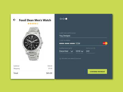 Daily UI Challenge 002 - Credit Card Checkout UI