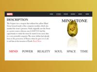 The Mind Stone | Marvel Web Design | Adobe XD