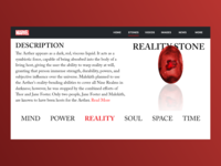 The Reality Stone | Marvel Web Design | Adobe XD