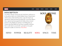 The Soul Stone | Marvel Web Design | Adobe XD