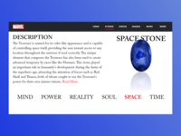 The Space Stone | Marvel Web Design | Adobe XD