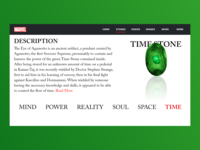 The Time Stone | Marvel Web Design | Adobe XD