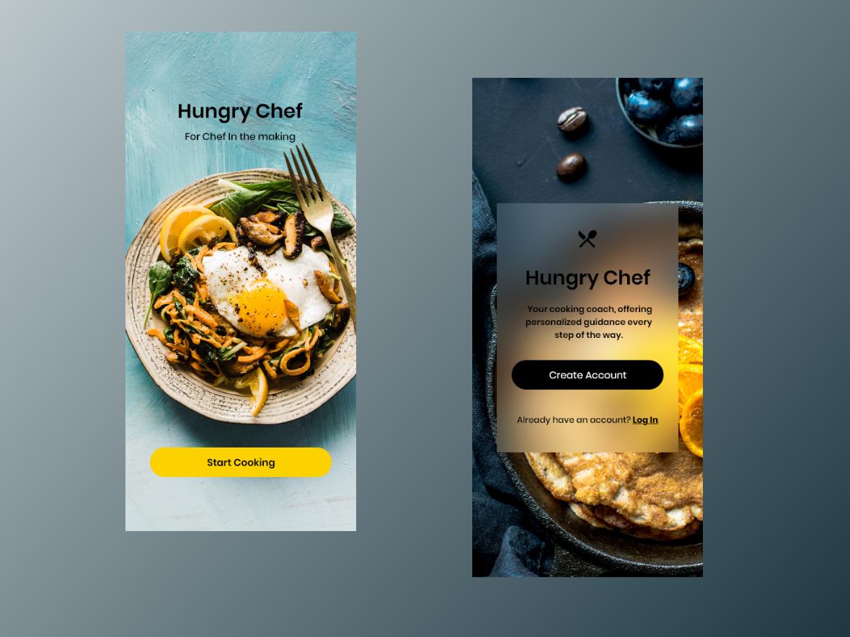 Hungry Chef | Adobe XD food app prototype web design app inspiration vector app concept app minimal interface design interaction design inspiration madewithxd adobe xd ui