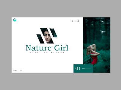Nature Girl Website UI | Adobe XD | Tutorial link in Description