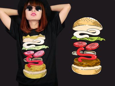 Burger illustration for Saymerch.