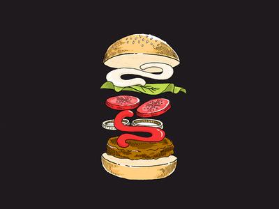 Burger illustration for Saymerch