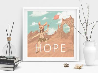 Bunny Hope Wall Art