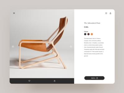 Branding concept, online furniture store
