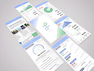 Financial/health and wellness app financial planning graph ios mobile wellness health financial