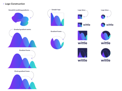 Wittle gradient logo explorations