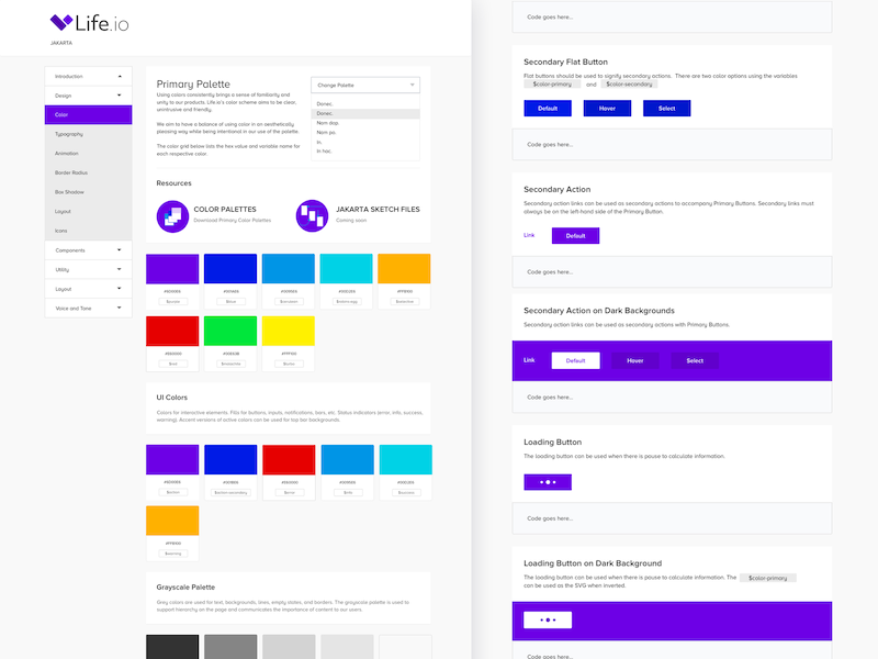 Life.io Web Style Guide