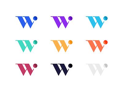 Wittle brand mark variation logo financial wellness mark identity branding