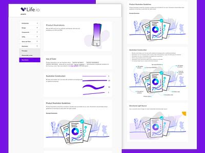 Form & Line Style Guide shape wellness health illustration ui styleguide form