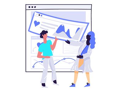 Collaboration on health patient clinician illustration ui data healthcare