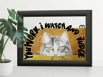 Mascotte watercolour watercolor cats characterdesign illustration artwork artist art
