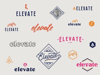 Elevate icon rebrand vector minimalistic illustrator marketing color branding design logo
