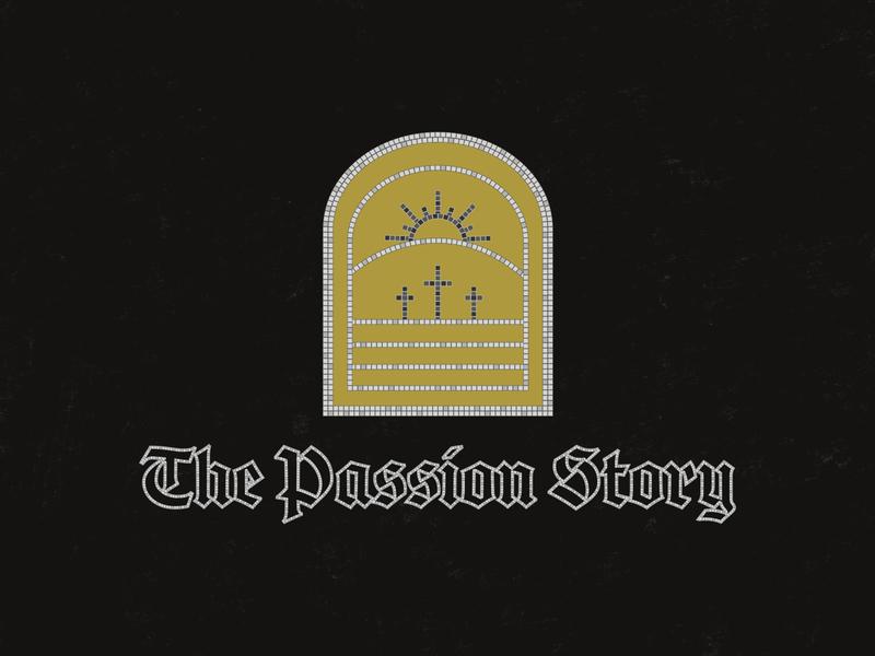 The Passion Story fauxsaic illustrator minimalistic vector church branding church design church typography color design