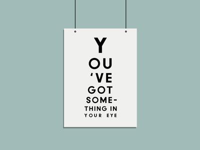 Eye illustration vector minimalistic typography illustrator color branding design