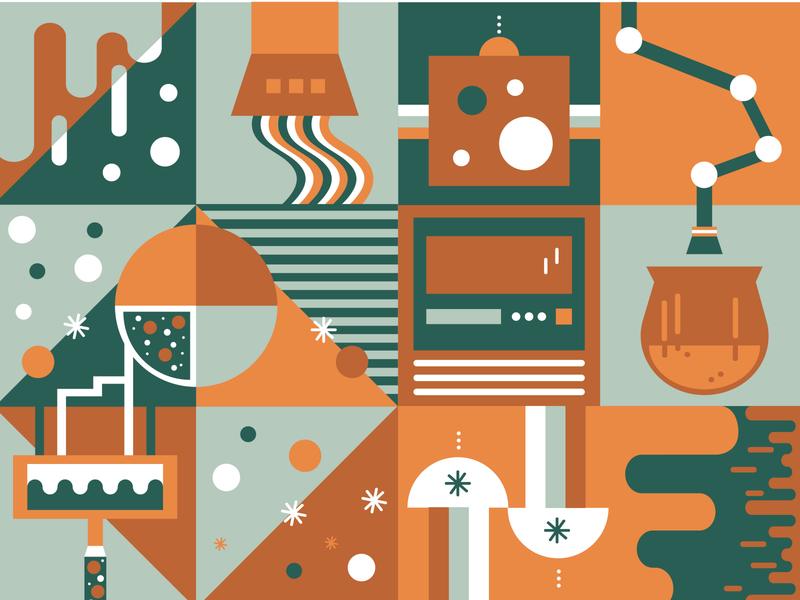 Factory factory illustration art vector illustration icon illustration color vector illustrator design