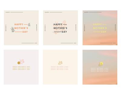 Mother's Day mother mothers day mothers vector minimalistic color branding design