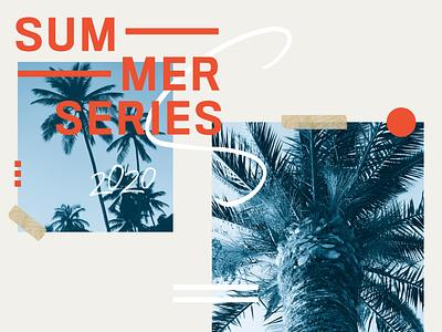 Summer Series church design marketing typography minimalistic illustrator color branding design