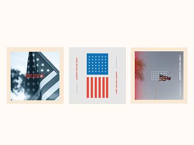July 4th marketing social media social media design social media pack american flag july 4th minimalistic color branding design
