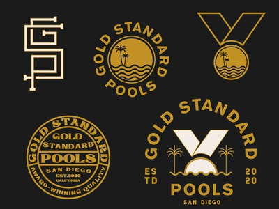 Pool Company Logo branding concept branding design company logo pool logo vector marketing illustrator color branding design