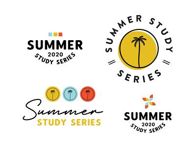 Series Branding Options branding design summer branding concept logo marketing illustrator color branding design